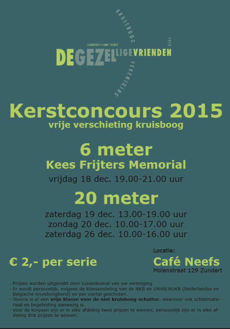Uitslag Kerstconcours 2015